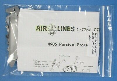 Air Lines Frog 1:72 Percival Proctor Trainer Plastic Aircraft Model Kit #4905U