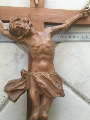 Holzkreuz carved wooden cross crucifix crocifisso