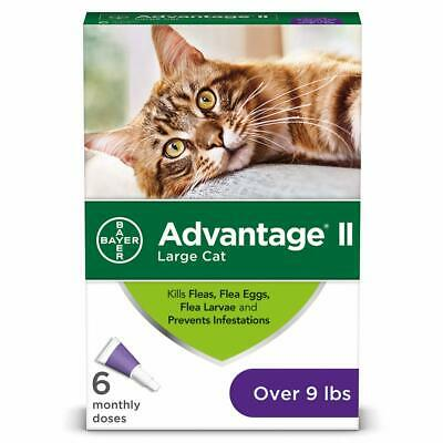 6 Month Advantage II for Large Cats Over 9 Lbs, EPA APPROVED NEW DESIGN 12