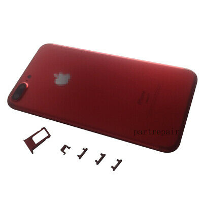 Red Metal Battery Cover Back Door Rear Housing Replacement For iPhone 7 Plus 5.5