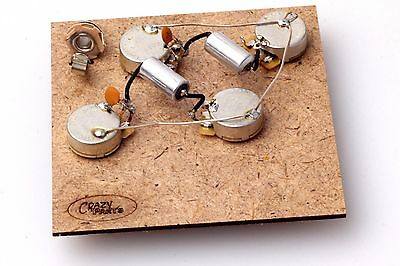 """Prewired Assembly fits Gibson® Les Paul-Vitamin T .022uF PIO Caps/CTS""""TVT"""" Pots"""