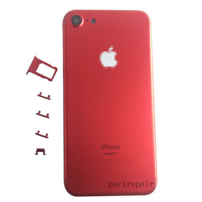 """Red Metal Battery Cover Back Door Rear Housing Replacement For iPhone 7 4.7"""""""