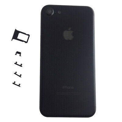 """Black Metal Battery Cover Back Door Rear Housing Replacement For iPhone 7 4.7"""""""