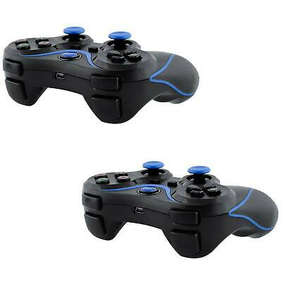 2x Black Wireless Bluetooth Game Controller Pad For Sony PS3 Playstation3