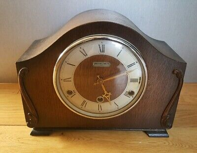 Vintage John Dyson & Son Perivale wooden cased mantel clock Westminster chime