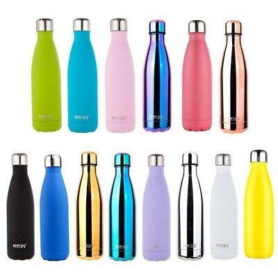 500ml Drink Bottle Water Bottle 304 Stainless Steel Double Wall Vacuum Cup #Yulu