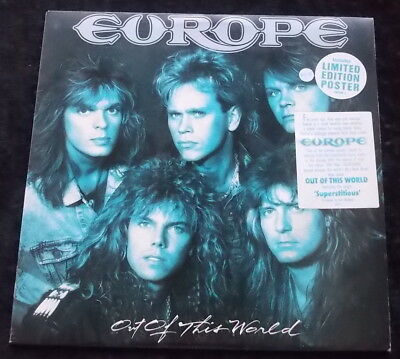 EUROPE Out Of This World LP + Poster NM WAX