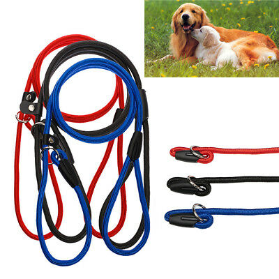 Strong Nylon Pet Dog Lead Puppy Walking Slip Collar Rope Strap Training Leash