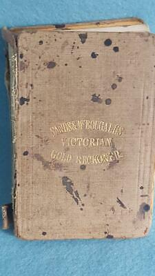 Sands McDougall Victoria Gold Reckoner 4th Edtn 1864 Stamped Bank of Vic Avoca