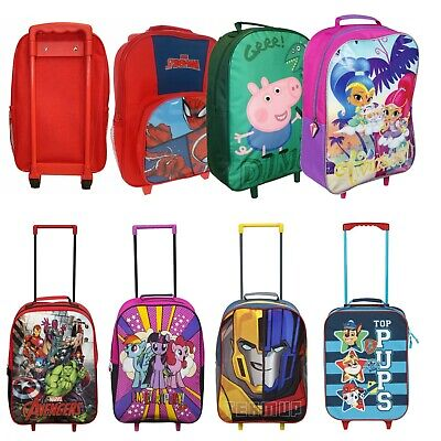 Children's Kids Boys Girls Wheeled Cabin Hand Luggage Small Trolley Travel Bag