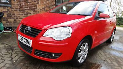 2008 58 VOLKSWAGEN POLO 1.2 ( 60PS ) Match 3DR HATCH RED MET *AIRCON*CD*ALLOYS