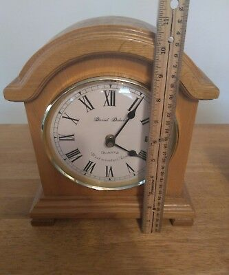 NEW Daniel Dakota Desk/Mantel/ Clock Made Of Wood. Floor model No Box