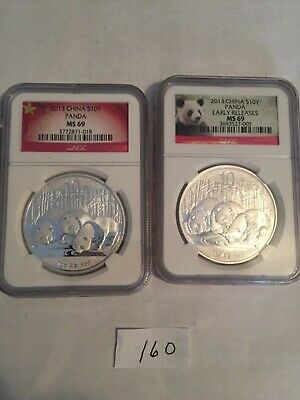 2013  10 Yuan China Silver Panda Coin 30 Gram .999 Silver PCGS MS69 First Strike