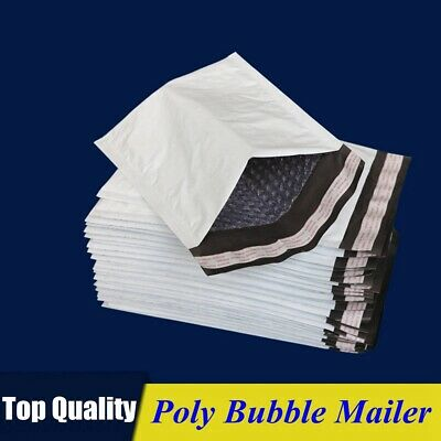 Poly Bubble Mailers Padded Envelopes Shipping Bags Self Seal Multiple Sizes