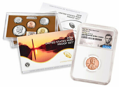 2019 S US Clad Proof Coin Set & 2019W Lincoln Cent NGC GEM PF UC FDI SKU57606