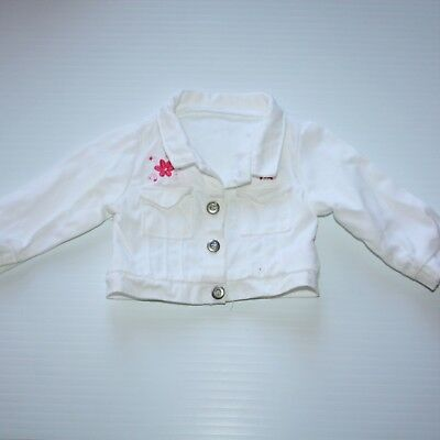 American Girl of Today Licorice Best Friend white jean jacket NWOB