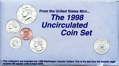 1998-P & D United States Mint Uncirculated Coin Set BC554