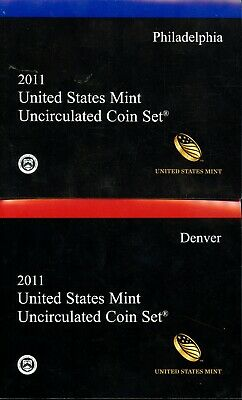 2011 P & D United States Mint Uncirculated Coin Set w/ CoA BC576