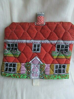 Frances Worters Country Cottage Tea Cosy Cozy Quilted Lovely Condition