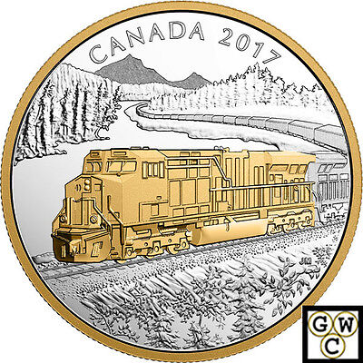 2017The GE ES44AC Locomotive' Gold-Plated Prf $20 Silver Coin 1oz .9999(18212)NT