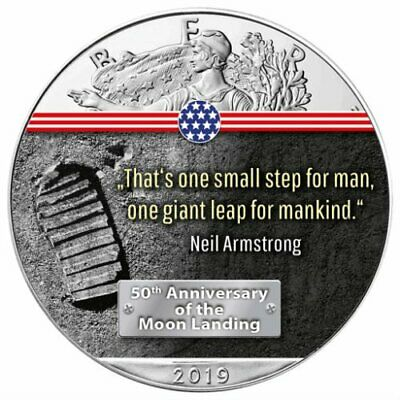 First Step On The Moon 50Th Anniversary 2019 1 Oz American Silver Eagle Coin