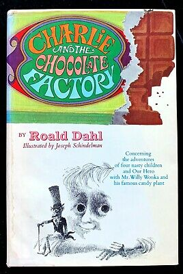 1964 Charlie and The Chocolate Factory HC/DJ by Roald Dahl, Book Club Edition