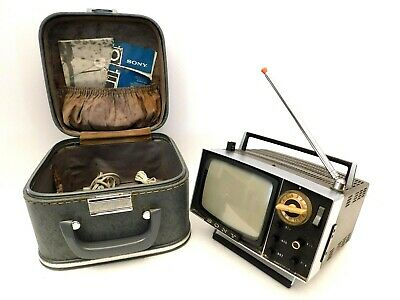Micro Sony Television Made Historical Antique Old Transistor Tv Retro Space Age