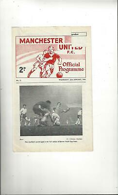 Manchester United v Blackpool FA Youth Cup Football Programme 1963/64