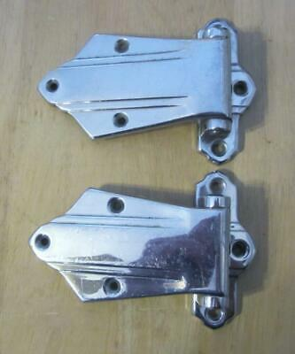 Antique Pair Icebox Door Hinges