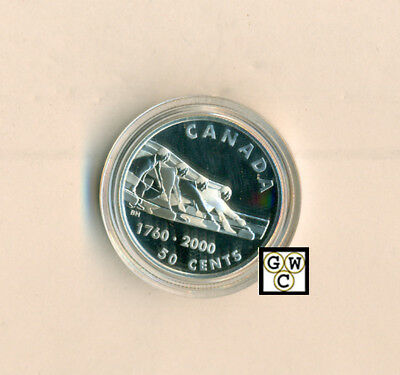 Canada 2000 Curling proof 50ct Sterling Silver Coin (11001) (OOAK)