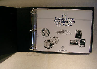 Uncirculated Coin Mint Sets Collection -  Postal Commemorative Society 19 Panels