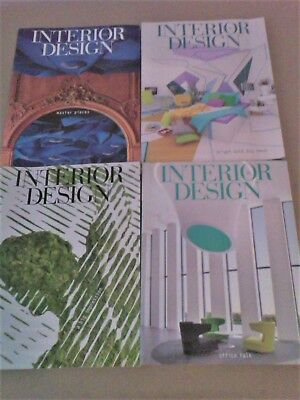 INTERIOR DESIGN MAGAZINE Lot 13 Issues Year Oct 2014 -Dec 2015 & 2 Buyer's Guide