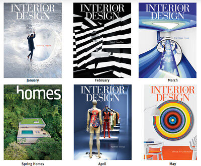 INTERIOR DESIGN MAGAZINE Lot 12 Issues Jan 2016 -Dec 2016 & 2 Guide & 2 ID Homes