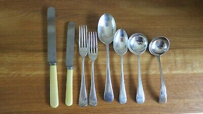 Vintage Walker & Hall Cutlery Set - 12 person setting.  75 pieces