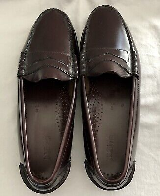bdce5dd01c2 LL Bean Penny Loafers Leather Brown Burgundy Slip On MENS Size 12D 250943  NEW