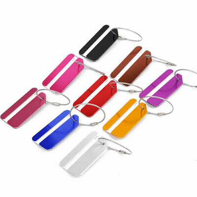 Aluminium Luggage Tags Suitcase Label Business Travel Gift Baggage Tag Colorful