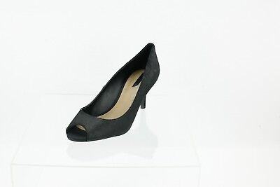 9bf3a14f1c60 Tahari Janna Black Lizard Embossed Peep Toe Pumps Women s Shoes Size 8.5 M
