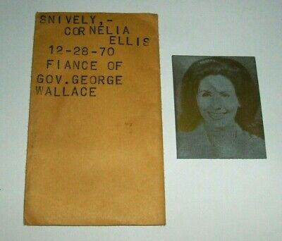 Cornelia Ellis Snively Newspaper Printing Plate 1970 Fiance of George Wallace