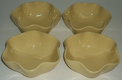 Lot of 4 CEREAL BOWLS Southern Living GAIL PITTMAN Butter Yellow HOSPITALITY