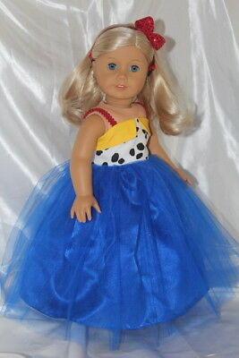 Dress fits 18inch American Girl Doll Clothes Lot Princess Gown Toy Story