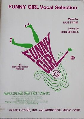 VOCAL SELECTIONS FUNNY Girl Streisand Voice Piano Unmarked