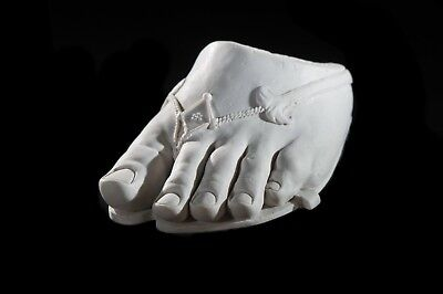 Marble Sculpture of the Foot of Colossus. Art, Gift, Ornament.