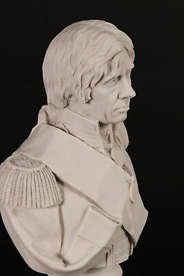 Marble Bust of Lord Admiral Horatio Nelson, Sculpture, Gift, Art, Ornament.