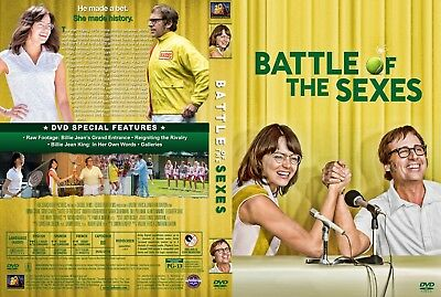 The Battle of the Sexes (DVD, 2017) EX-LIBRARY