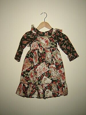 """Stunning flower fairies dress and pinafore for himstedts/antiques etc. 33""""+ doll"""