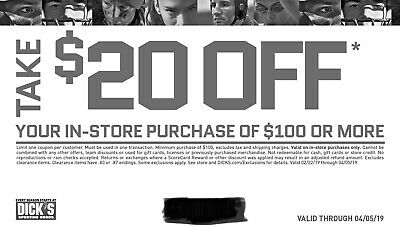 Dick'S Sporting Goods $20 Off Coupon In-Store