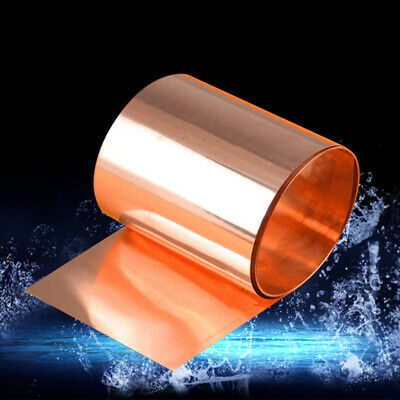Copper Foil Sheet Smooth Roll Tape For Welding / Brazing Metalworking Practical