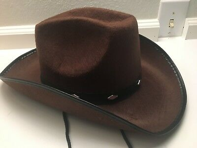 53b562fbac005 KANGAROO BROWN STUDDED Cowboy Hat Durable US SELLER New -  333.88 ...