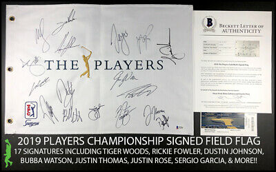 Sports Mem, Cards & Fan Shop Nice 2019 Us Open Autograph Signed Field Flag Rory Mcilroy Fowler Beckett Bas Coa Loa