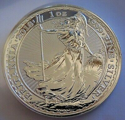 2018 Great Britain BRITANNIA 2 Pounds .999 fine silver One Troy Ounce 1 oz troy